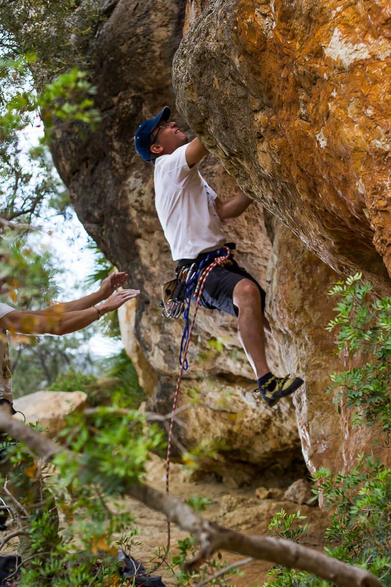 Klettern auf Mallorca im Sektor Puig de sa Garrafa
