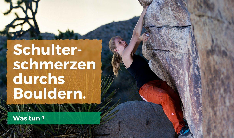 Schulterschmerzen durchs Bouldern. Was tun? - ClimbingFlex