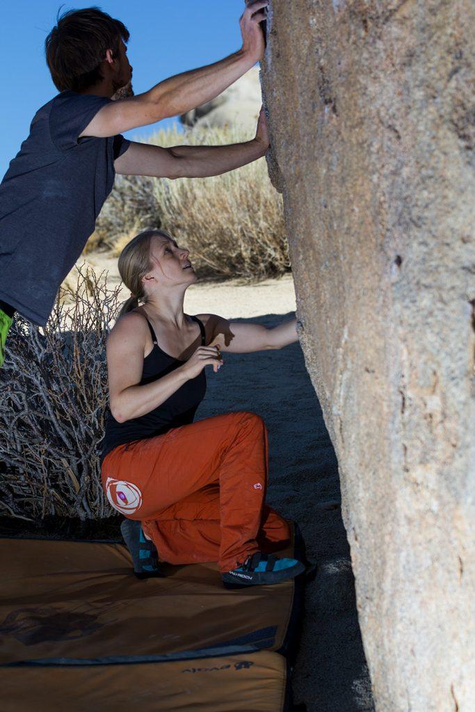 Kopftraining Bouldervorbereitung in Bishop