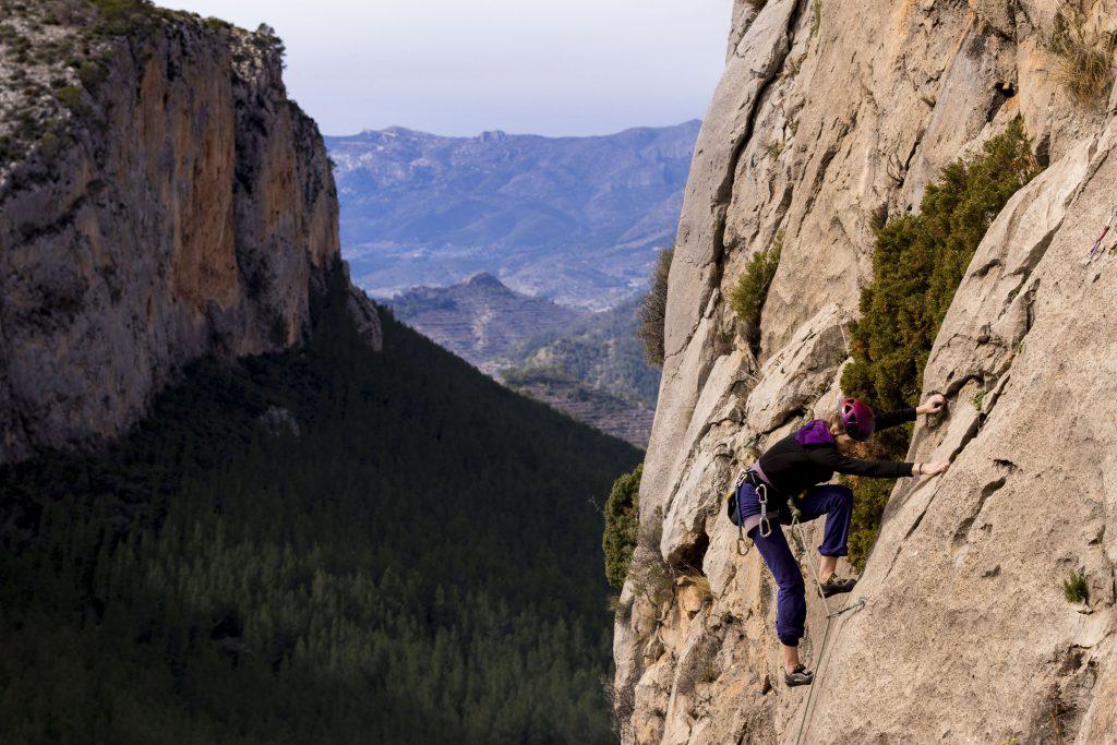 Kletter-Yoga-Retreat Klettern in der Sonne