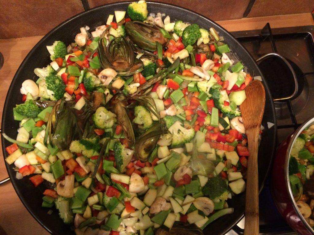 Kletter-Yoga-Retreat vegetarische Paella