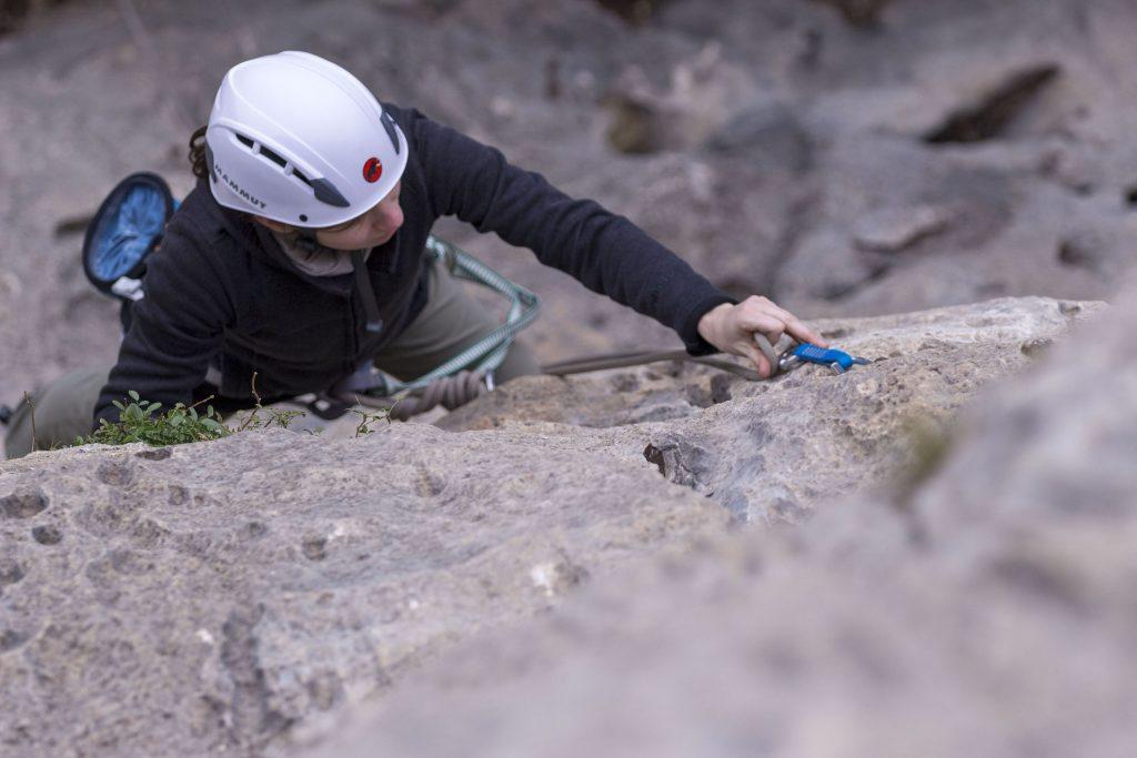 Klettern-Klipptechnik