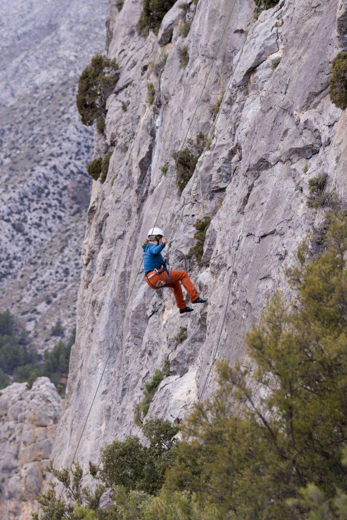 Sella Kletter-Yoga-Retreat Sturzmethode im Vorstieg und Top