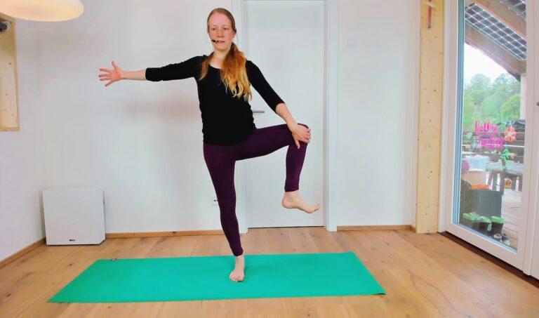 Gleichgewicht trifft Hüftflexibilitaet
